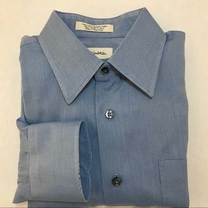 John W Nordstrom Dress Shirt 15.5 - 34 Blue Men's